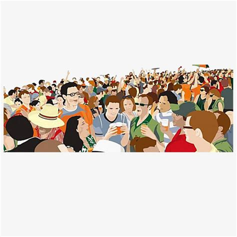 imagenes de multitudes orando 人山人海扁平化素材图片免费下载 高清png 千库网 图片编号8632701