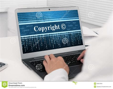 laptop computer  copyright message royalty  stock