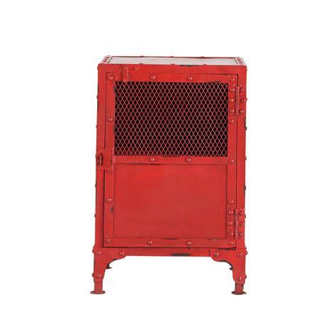 Nachttisch Rot by Nachttisch Im Industriestil Rot Edison Edison Maisons