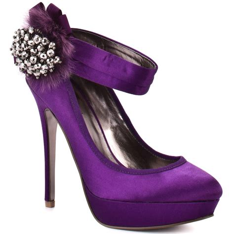charles by charles david s purple glacee purple satin
