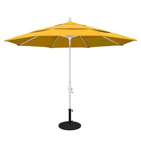 California Umbrella 11 Ft Aluminum Collar Tilt Double Yellow Patio Umbrella