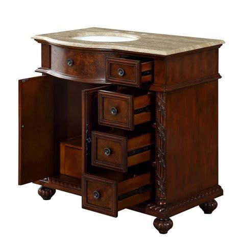 Vanity L by 6306tw36l 36 Single Sink Vanity Travertine Top Cabinet