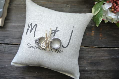 Personalized Ring Bearer Pillows by Ring Pillow Personalized Ring Bearer Pillow Custom Ring