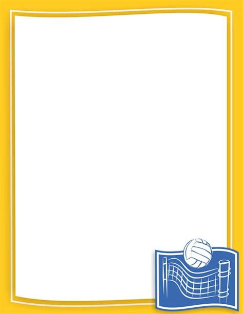 printable volleyball paper printable volleyball border free gif jpg pdf and png