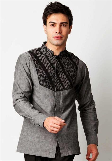 Baju Batik Modern Muslim Kebaya Jawa Kemeja Pria Cataleya Ungu aneka model baju batik pria kombinasi trendy masa kini 2016