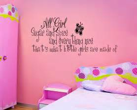 sugar and spice little girls room vinyl wall quote decal wall stickers for girls bedrooms wall decal sticker girls