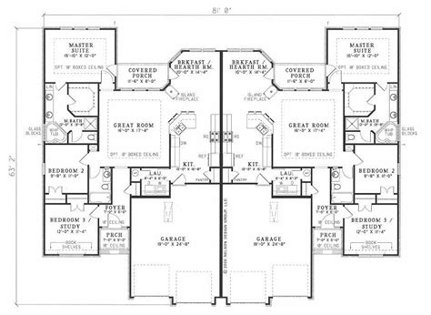 Multi Unit Home Plans by Multi Unit House Plan 153 1585 6 Bedrm 3040 Sq Ft Per