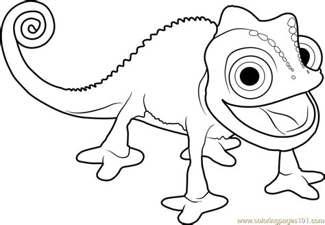 tangled chameleon coloring pages coloring pages ideas