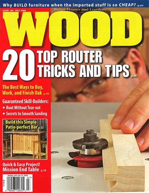 wood issue 184 july 2008 woodworking plan from wood magazine