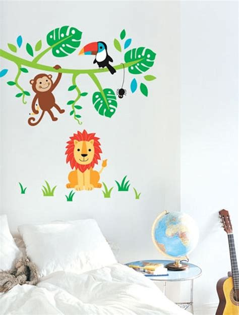 jungle stickers for walls jungle wall stickers 2017 grasscloth wallpaper