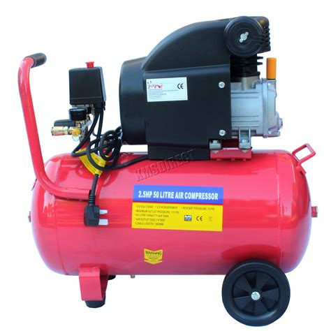 foxhunter 50ltr 2 5hp electric air compressor 50 ltr 2 5 hp boxed with wheel new ebay