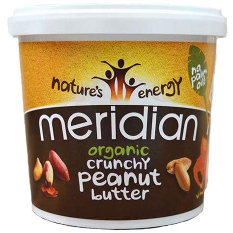 Organic Crunchy Peanut Butter meridian organic peanut butter crunchy 100 nuts 1kg tub