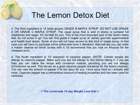 Lemon Detox Diet For 3 Days by The Lemon Detox Diet Recipe