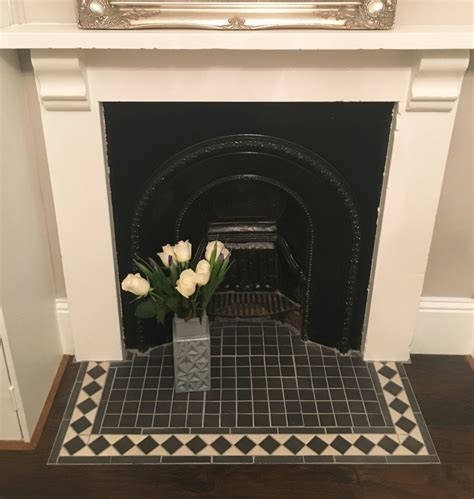 Black And White Fireplace Tiles interior decor bedroom makeover creating panelled walls house lust