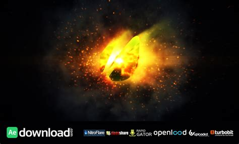 orb fire logo reveal videohive free download free after effects template