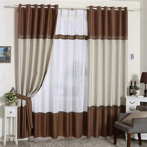 Brown And White Curtains 2015 Brown And White Curtain Curtains For The Bedroom Linen Blackout Curtains For Living Room