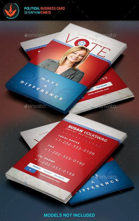 Political Caign Business Card Templates vote political business card template this business card