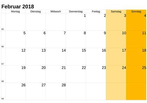 Kalender 2018 Schulferien Luxemburg Kalender Februar 2018 Zum Ausdrucken Pdf Excel Word