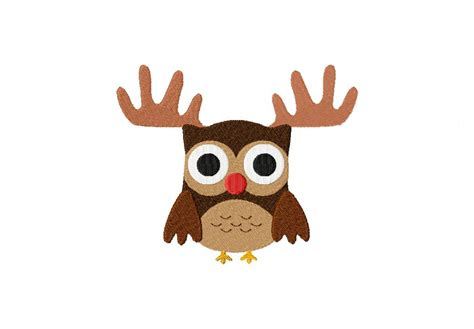 christmas owl pictures nosed reindeer owl machine embroidery for gold members only daily embroidery