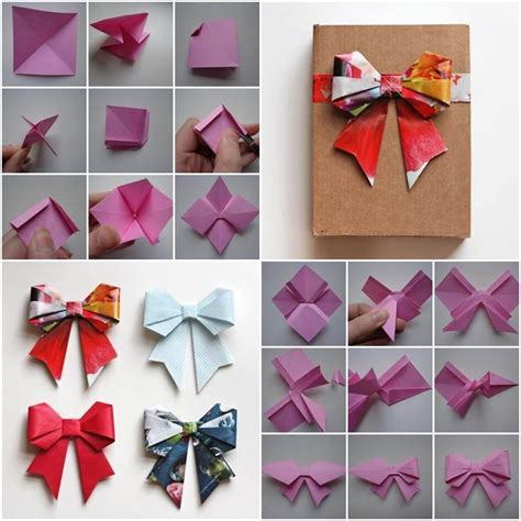 How To Make A Bow With Paper Ribbon - diy easy origami bow follow us on gt gt http www