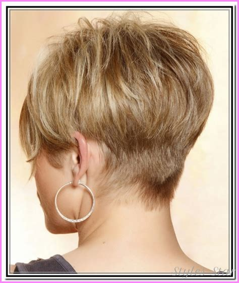front and back short haircuts front and back view of hairstyles short layered bob