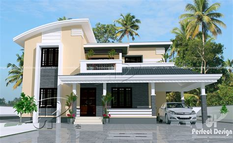 housing design 1884 sq ft contemporary home kerala home design