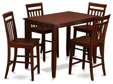 table with 4 chairs inside buew mah kitchen table set transitional indoor pub and
