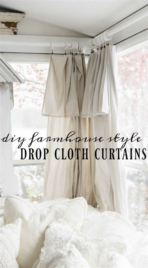 Cottage Style Curtains And Drapes Diy Drop Cloth Curtains In The Sunroom Cottage Style Decor Drop Cloth Curtains And Cottage Style