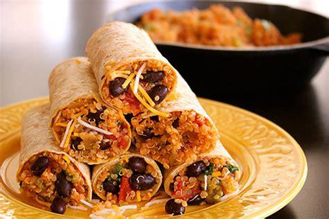 protein in quinoa protein quinoa bean burrito wrap