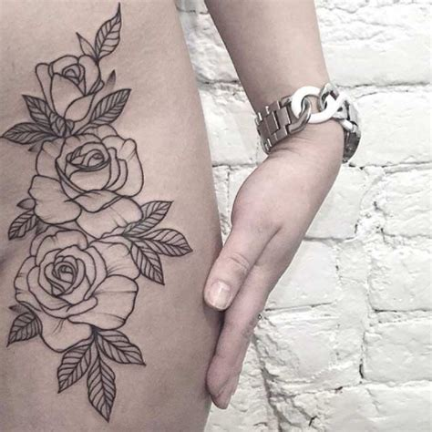 Outline On Hip by 25 Best Ideas About Flower Outline On Forearm Flower Forearm Sleeve