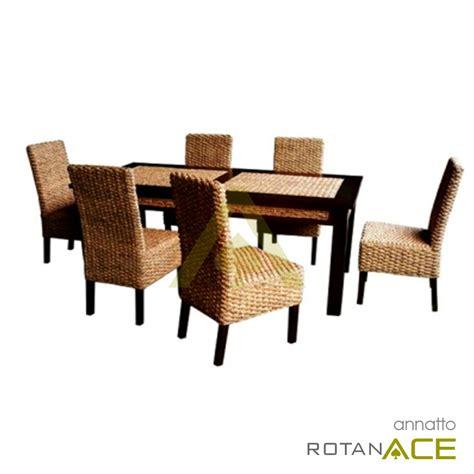 Meja Makan Ace Hardware jual annatoo meja makan rotan set 6 seats harga lebih