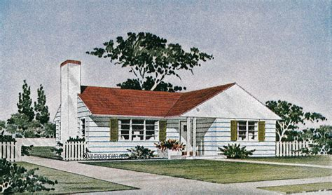 The Revere 1950s Ranch Style Home House Plans Liberty 1950 Bungalow House Plans