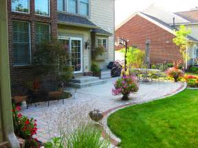 Extending concrete patio with pavers decorations and house ideas