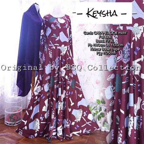 Gamis Khimar Set Maroon Pink baju muslim remaja keysha syar i gamis modern murah