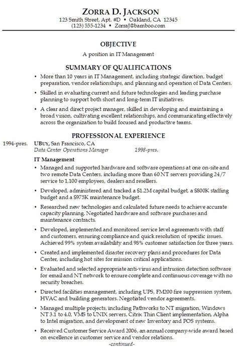 Sle Professional Summary On Resume 15 Professional Summary Exles Recentresumes