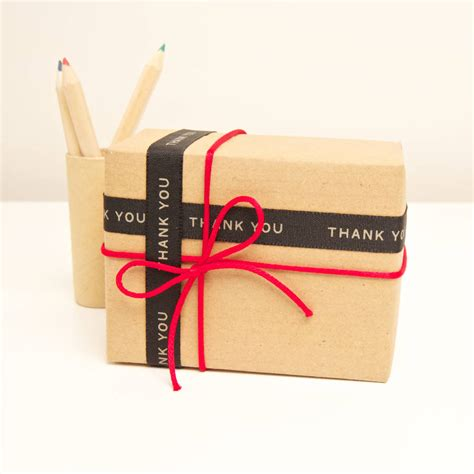 how to wrap a ribbon around a gift thank you gift wrap ribbon by slice of pie designs