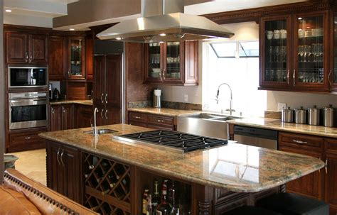 dark wood kitchen cabinets the charm in dark kitchen cabinets