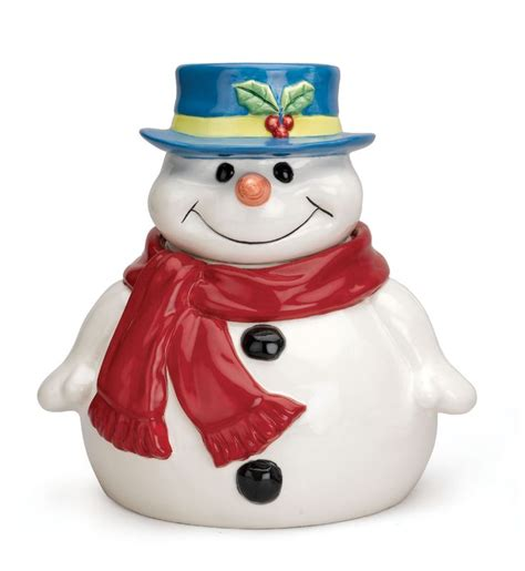 christmas cookie jar snow man pinterest