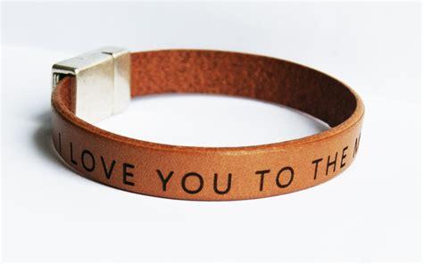 Men Leather bracelet personalized Custom Mens Bracelet