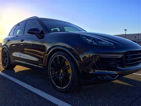 porsche cayenne 2016 black pics 2016 cayenne turbo s in black rennlist discussion