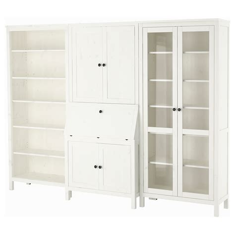 Hemnes Bureau With Add On Unit Bookcase White Stained Ikea Hemnes White Bookcase