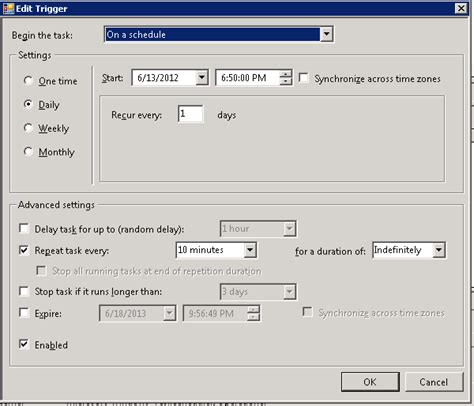 how to schedule a task in windows windows task scheduler does not start task at next run