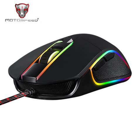 Mouse Gaming Nyk Colour Usb motospeed v30 rgb programming 3500 dpi gaming gamer mouse usb computer wried optical mice
