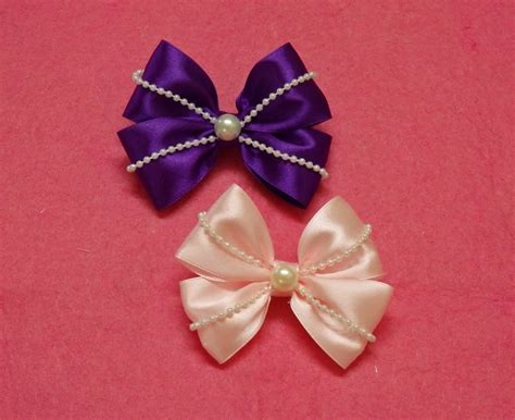 hair bows diy ribbon hair bows with pearls hair bow tutorial how to make