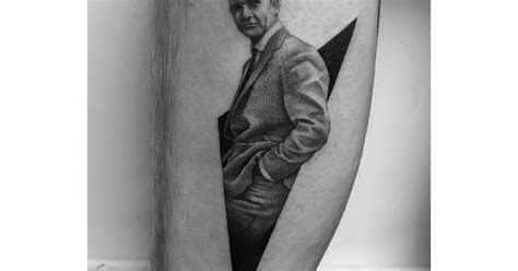 sean connery tattoo dotwork style connery as bond on the