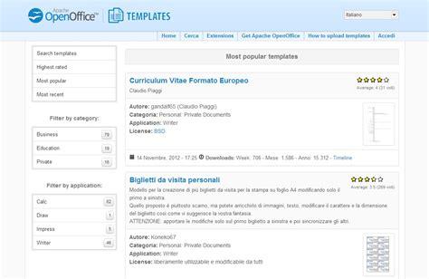 apache openoffice nuovi siti per templates e extensions