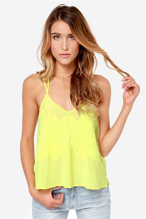 Yellow Top 1 yellow top embroidered top mesh top 36 00