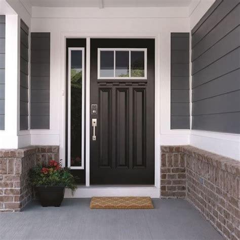 black door  satin nickel hardware   front door