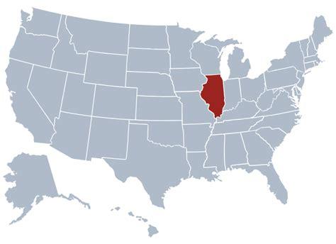 map usa states illinois illinois state information symbols capital