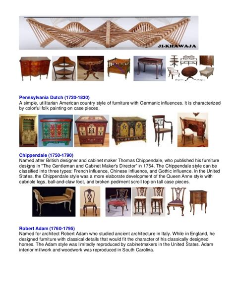 furniture styles timeline furniture style guid